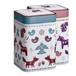 Eigenart Winter Greetings wunderschöne Teedosen Kaffeedosen Vorratsdose 2er-Set für je 100g, Eine...