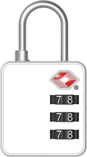 Stanley TravelMax Whiteboard TSA Zahlenschloss (30mm zum Beschriften geeignet, 3-stellig, Bügelschloss) weiß, S741-165