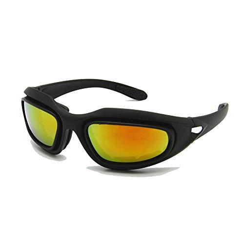 EnzoDate Daisy C5 ejército Gafas polarizado Kit de Lente 4, Juego de Guerra de Militares Gafas de Sol de Deportes al Aire Libre Motociclismo Bicicleta para Hombres (Polarizado)