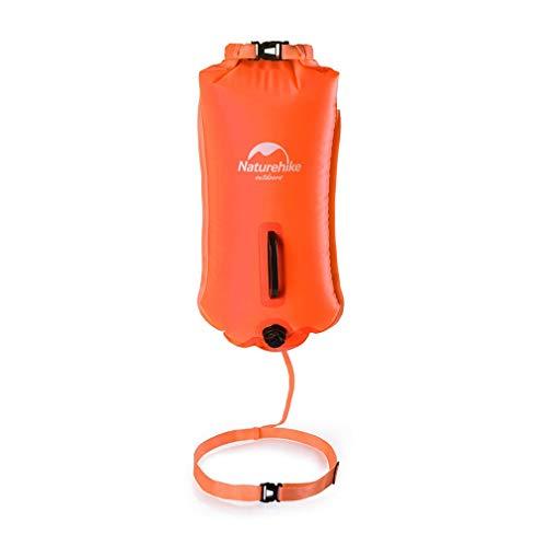 WUZHENG Boa di Nuoto - Galleggiante di Sicurezza per Nuoto E Drybag per Nuotatori in Acque Libere, Triatleti, Kayak E Snorkeling,Orange