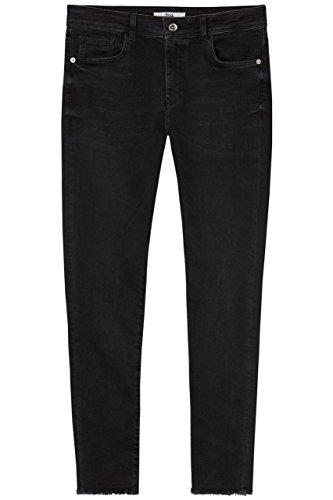FIND Damen Skinny-Jeans mit ausgefranstem Saum, Schwarz, W26/L32 (Herstellergröße: X-Small)