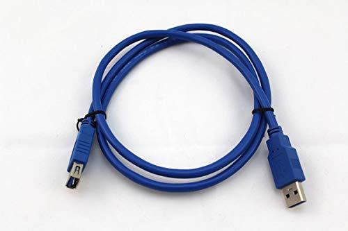 1m USB 3.0 Verlängerungskabel, A-Stecker auf A-Buchse, Vernickelt, Blau