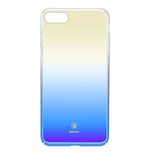 iPhone Case Cover Baseus pour iPhone 7 Glaze PC Étui de protection en gradient de couleur ( Color : Black ) Blue