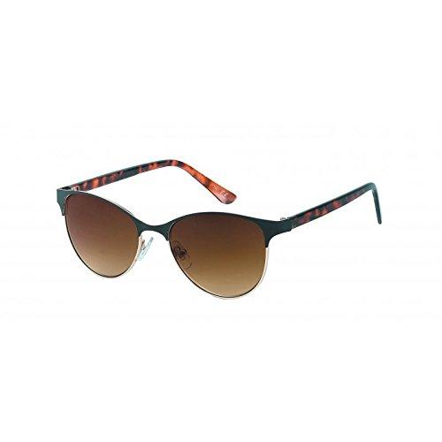 Chic-Net Sonnenbrille Damen 400UV Vintage Metall schmal überstehend getönt gemustert rot