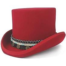 Outdoor Unisex Cap Mujeres Hombres Steampunk Sombrero de Copa Sombrero Loco  Borla Trenzada Colgante Redondo Tradicional ef9d31dcb7b