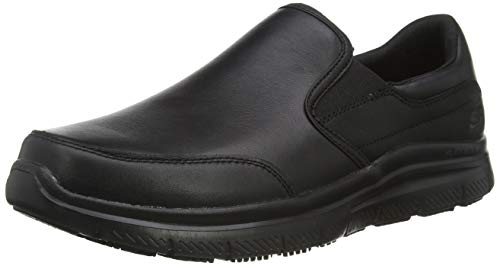 Skechers Flex Advantage Sr, Cordless Shoes for Men, Black Black Black, 10 UK 45 EU