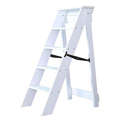 XITER Escaleras de Tijera Escalera Plegable Taburetes Escaleras Madera Maciza Portátil 4 Pasos Escalera de una Cara Adulto 150KG de Carga Taburete Escalera (Color : C)