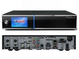 GigaBlue HD Quad PLUS schwarz 2x DVB-S2 HDTV Linux HbbTV LAN Sat Receiver inkl. 1000 GB Festplatte - Hd Quad Plus