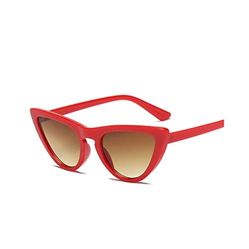 Sport-Sonnenbrillen, Vintage Sonnenbrillen, New Women Cat Eye Sunglasses Fashion Spiegel Cat Eye Sun Glasses For Ladies UV400 RedBrown