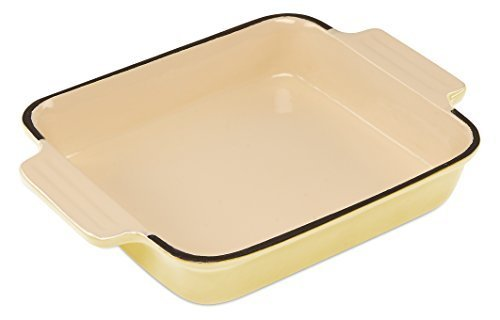 Cooks Professional Cast Iron Cookware Roasting Dish – 20 x 22cm. (Cream)