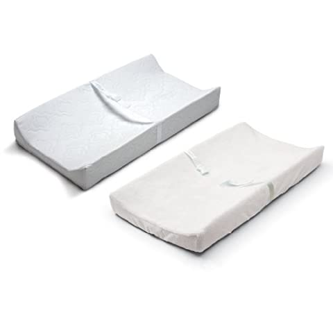 Summer Infant Contoured Changing Pad & Changing Pad Cover in White
