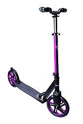 Muuwmi Mädchen Aluminium Scooter Pro 215 mm, schwarz/pink, One Size