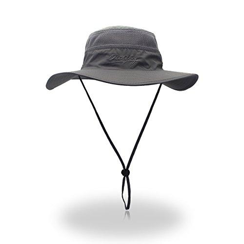 Gorro de pesca cortavientos VICSPORTS - Factor de protección 50 antirrayos UV, para exteriores, estilo pescador con rejilla, 56- 61 cm