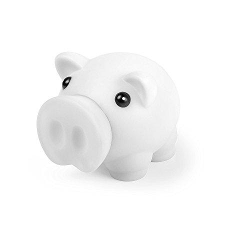 eBuyGB 1274706Novelty Pig, diseño de Cerdo Dinero Caja de Ahorro para Monedas y Billetes–Banco (Color Blanco)