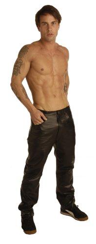 Estricta piel 34Inch cintura pantalones para hombres