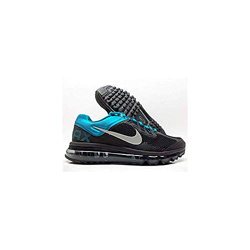 31BTEiw4xFL. SS500  - Nike Women's Air Max+ 2013, Women's Running Shoe. Black/Reflective Silver/Tropical Teal