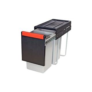Hafele Concealed Hidden Double Waste 15/15 Litres 30 Hours 502.76.508 Franke Cube for Mounting Behind Revolving Door