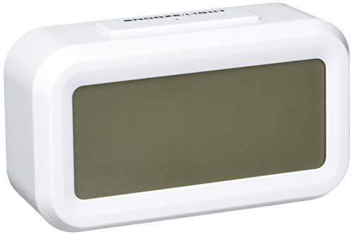 """[NUOVA VERSIONE] ZHPUAT 5.3""""Sveglia Digitale,Grande HD Schermo,Postpone,Intelligente Luce Soffusa,Allarme Progressive,Batteria Funzionato,Impostazione Semplice,Esposizione di temperatura,Facile per viaggi Bianco"""