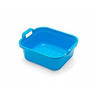 Addis rechteckige Spülschüssel mit Griffen, Plastik, blau, 39 x 32 x 14 cm