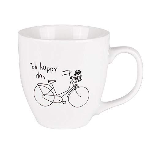 Odernichtoderdoch Jumbo-Tasse | Oh Happy Day | 0,4 Liter Volumen - Porzellan - weiß Jumbo-tasse