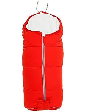 ODOMY Baby Schlafsack Winterfußsack Winter-Einschalgdecke Liegefläche mit Reißverschluss für Kinderwagen, Tragewanne...