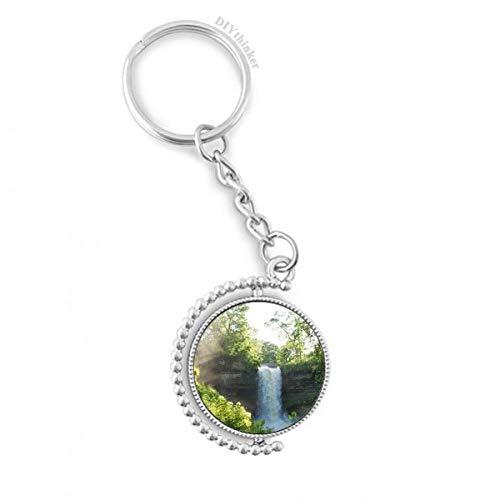 DIYthinker WasserHuelle Wissenschaft Natur Forstwirtschaft Landschaft Drehbare Schlüsselanhänger Ringe 1.2 Zoll x 3.5 Zoll Mehrfarbig