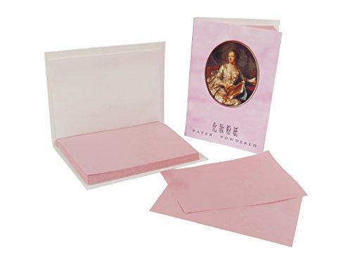 Gesichtsöl Löschpapier - Puderpapier - powdered oil control blotting paper Gesicht - 7.0cm x 5.0cm - pack mit 65 Blätter (X3 pack)