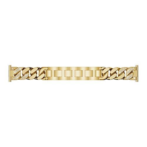 R5 Ersatz (Webla Einfache Reihe Denim Kette Schmuck Schnalle Legierung Armband Gold Ersatz Luxus Edelstahl Armband Armbänder Marke Für Huawei Uhr Gt)