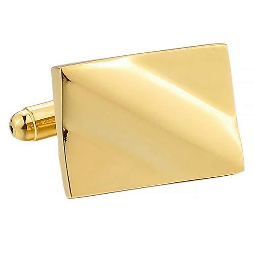 4d4b837a5221 MunkiMix 2 Pieza Rodio Plateado Gemelos Oro Dorado Tono Cuadrada Camisa  Alianzas Boda Negocios 1 Coppia