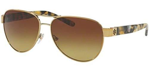Tory Burch Sonnenbrillen TY 6051 Gold/Brown Olive Shaded Damenbrillen (Sonnenbrille Burch Tory)