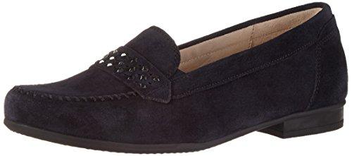 Gabor Shoes Damen Comfort Mokassin, Blau (Ocean 46), 42 EU