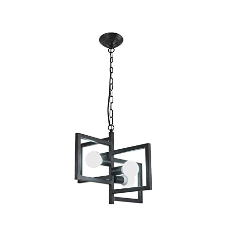 AI DENG YG Moderne minimalistische 4 Kronleuchter Kreative Persönlichkeit Schmiedeeisen Geometrische Kunst LED Deckenleuchte Bartheke Esszimmer Restaurant Industrielle Kronleuchter -