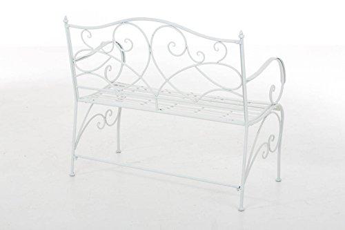 Gartenbank Felicita aus Eisen l Landhausstil l Metall weiß - 7