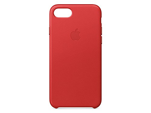 Apple MMY52ZM/A iPhone 7 Leather Hülle schwarz rot