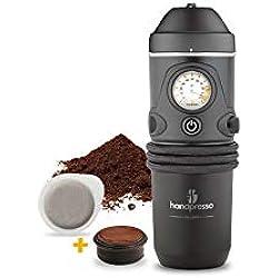 Handpresso Auto 48261 Machine expresso portable à dosettes ESE ou café moulu pour voiture 12V