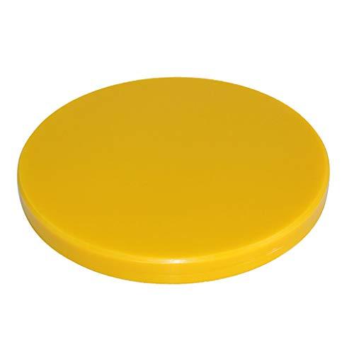 Schneidbretter Plastikverdickung geschnitten und schnitzen Schneidebrett - rundes Weiß (Verschiedene Größen) Holz Schneidbretter (Color : Yellow, Größe : 40cm)
