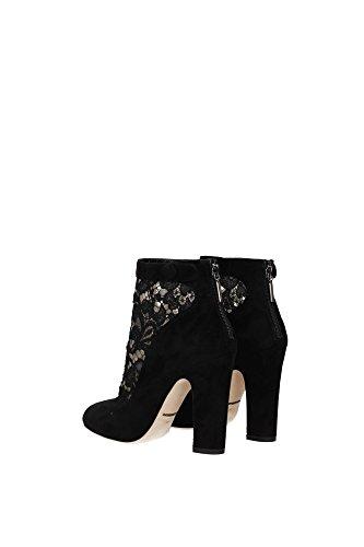 C18310AT7878B956 Dolce&Gabbana Chaussure mi montantes Femme Chamois Noir Noir