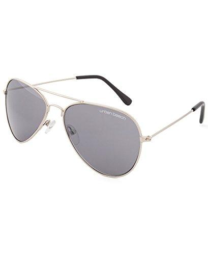 Urban Beach Kids 'Maverick Aviator Sonnenbrille, Silber, S