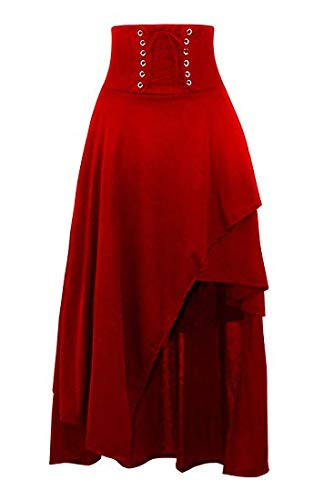 Falda roja victoriana