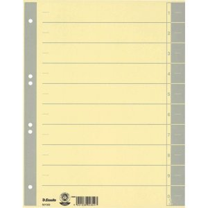 Preisvergleich Produktbild 100 x Esselte Trennblätter A4 230g/qm farbig bedruckt grau