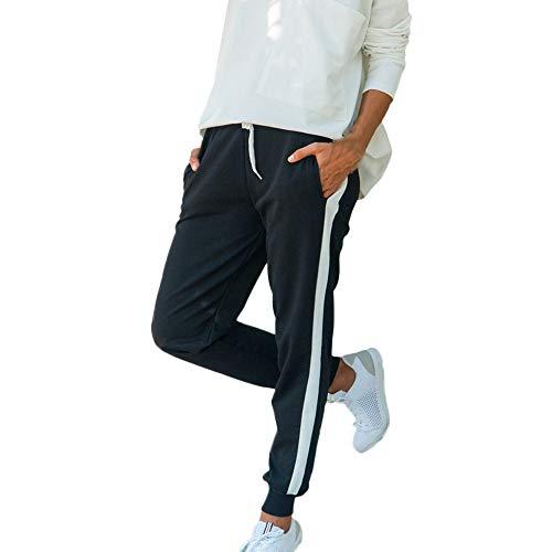 Damen Herbst und Winter Beiläufig Kontrast Hose YunYoud Outdoorhose Freizeithose Anglerhose Hosen Sporthose Casual Streifen Sweathose Elastischer Bund Jogginghose mit Taschen