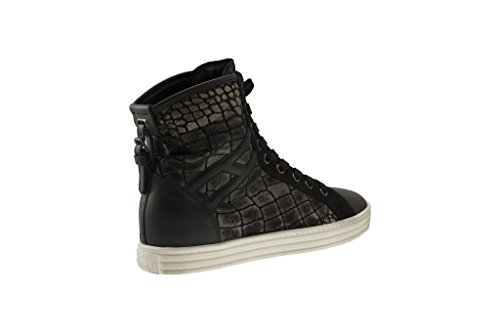 Sneakers Hogan Rebel Pitonato Beige Nero