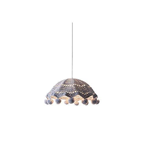 LED-BeAu Handgewebter Kronleuchter Schlafzimmer Junge Prinzessin Zimmer Mädchen Kreative Kunst Rattan Baumwollfaden,Rosa -