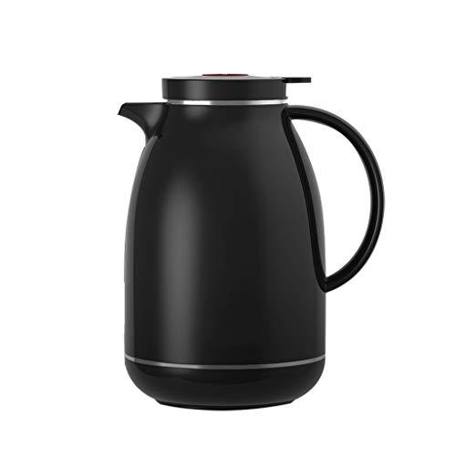 WLHW Trinkflaschen Thermoskannen, Haushaltsglas Liner Teekanne Große Kapazität Langzeit Isolationsschloss Kaltwasserflasche 1.5L S5 (Farbe : SCHWARZ)