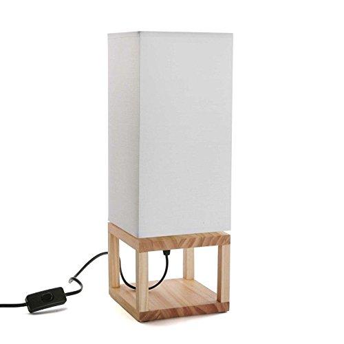 Wellindal lampara de mesa blanca