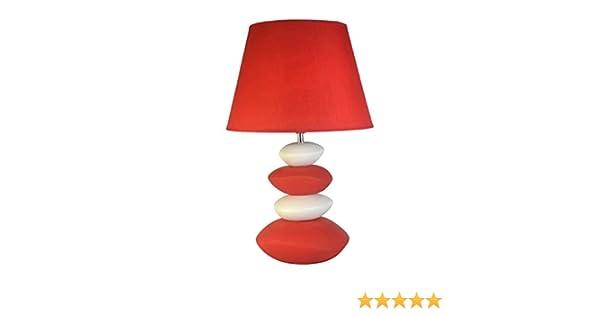 1001KDO POUR LA MAISON Lampe 4 Galets Rouge