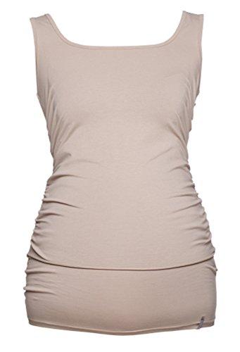 Be! Mama Still-Shirt, Still-TOP, Umstandstop, Schwangerschaftsshirt, Modell: SIMPLE Beige