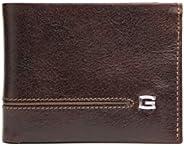Giudi Luxury Portafoglio Bifold Uomo Made in Italy Bella Vera Pelle Vacchetta 2 Tasche Porta banconote 9 Porta