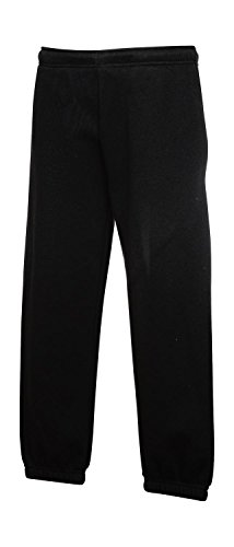 Kinder Jogginghose mit elastischem Bund Kids Hose verschiedene Farben und Größen - Shirtarena 164,Schwarz