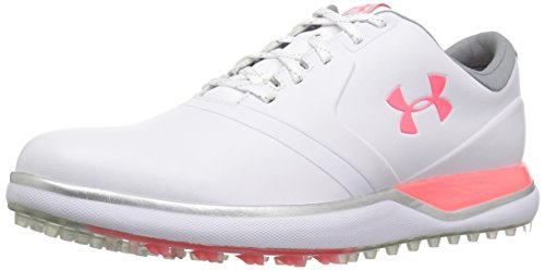 Under Armour UA W Performance SL, Zapatos de Golf para Mujer, Blanco (White 100), 42 EU